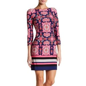 Vince Camuto Patterned Ity T-Body Dress